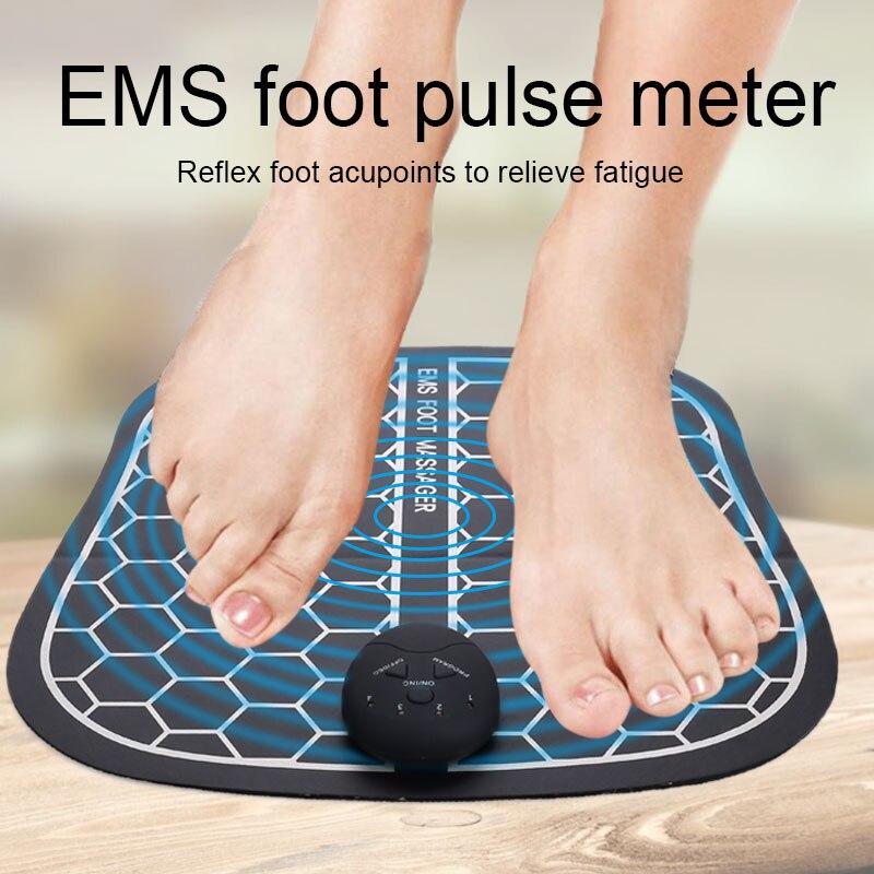Elektrik EMS ayak masajı kablosuz ayak kas stimülatörü ABS fizyoterapi canlandırıcı pedikür onlarca ayak titreşimli masaj Ma