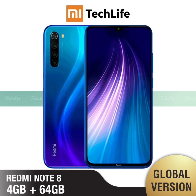 Global Version Xiaomi Redmi Note 8 64GB ROM 4GB RAM (Brand New / Sealed) Note864
