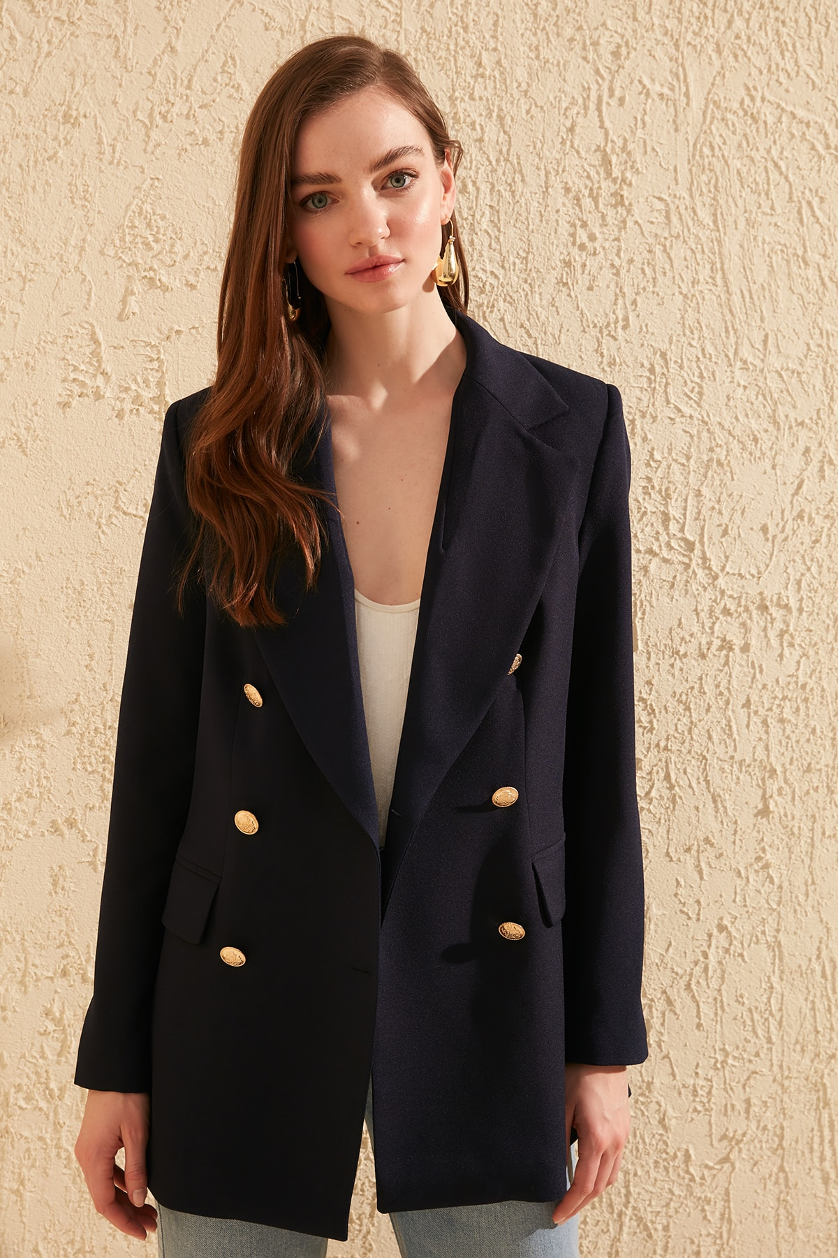 Trendyol Button Detail Jacket TWOSS20CE0024