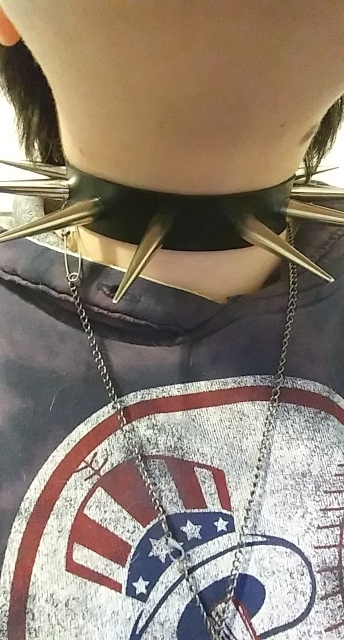 Punk  Big Metal Spikes Chokers photo review