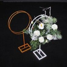 Золотые, белые, вечерние, железные, Цветочные подставки, ваза, свадебные реквизиты, кованый искусственный цветок, стол, центральные части, дорога, цветочный шар, ваза