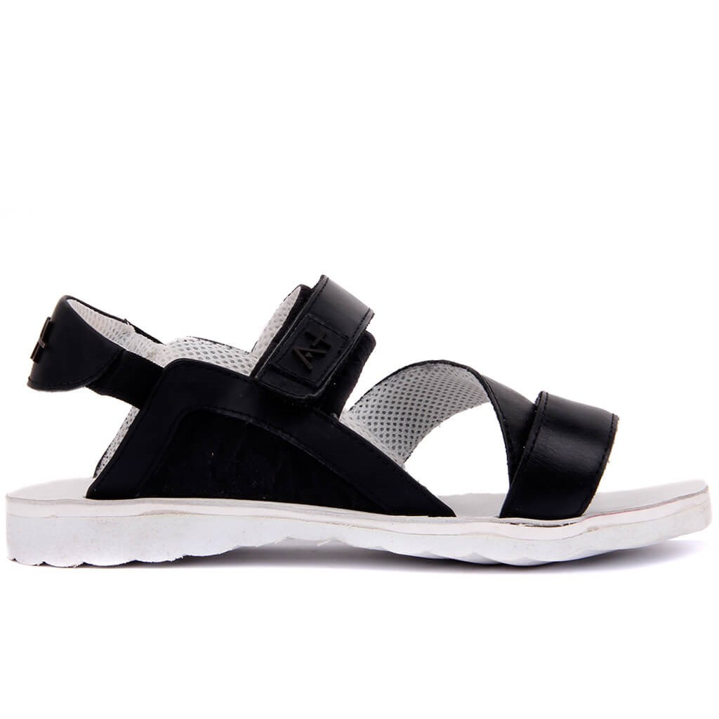 Sail-Lakers Black Nubuck Male Sandals