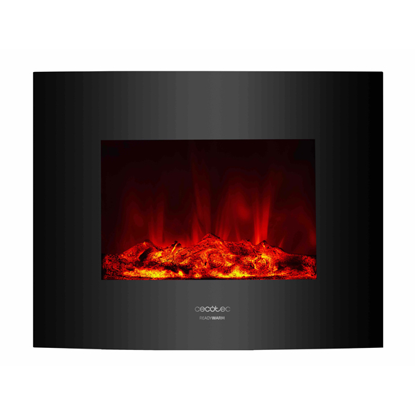 Decorative Electric Chimney Breast Cecotec Warm 2600 Curved Flames 2000W