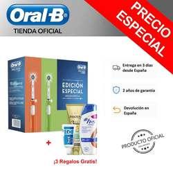 Opakowanie 2 Cepillos Eléctricos con tecnología Braun oral b PRO 600 skrzynia CrossAction Naranja/Verde + Dentífrico oral b Expert 15ml w Elektryczne szczoteczki do zębów od AGD na