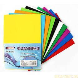 Foamiran A4 in a set of 10 sheets 10 colors, thickness 2mm