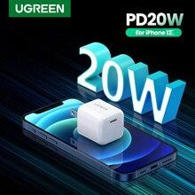 UGREEN cargador USB tipo C de 20W para móvil, dispositivo de carga rápida para iPhone 12 y 11, Samsung S10 y Xiaomi