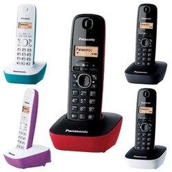 Panasonic KX-TG1611-Teléfono fijo inalámbrico (LCD, identificador de llamadas, agenda de 50 números, tecla de navegación, alarma, reloj)