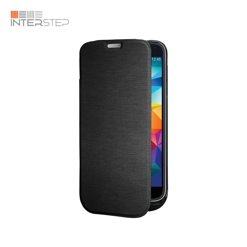 Case battery INTERSTEP for Samsung Galaxy S5, 2800 mAh, Black stylish flip open pu tpu case w stand display window wake up for samsung galaxy s5 pink