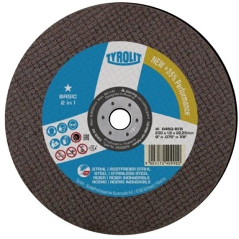 CUTTING DISC INOX 230X2X22 MM TO 30 Q-BFB BASIC * TYROLIT