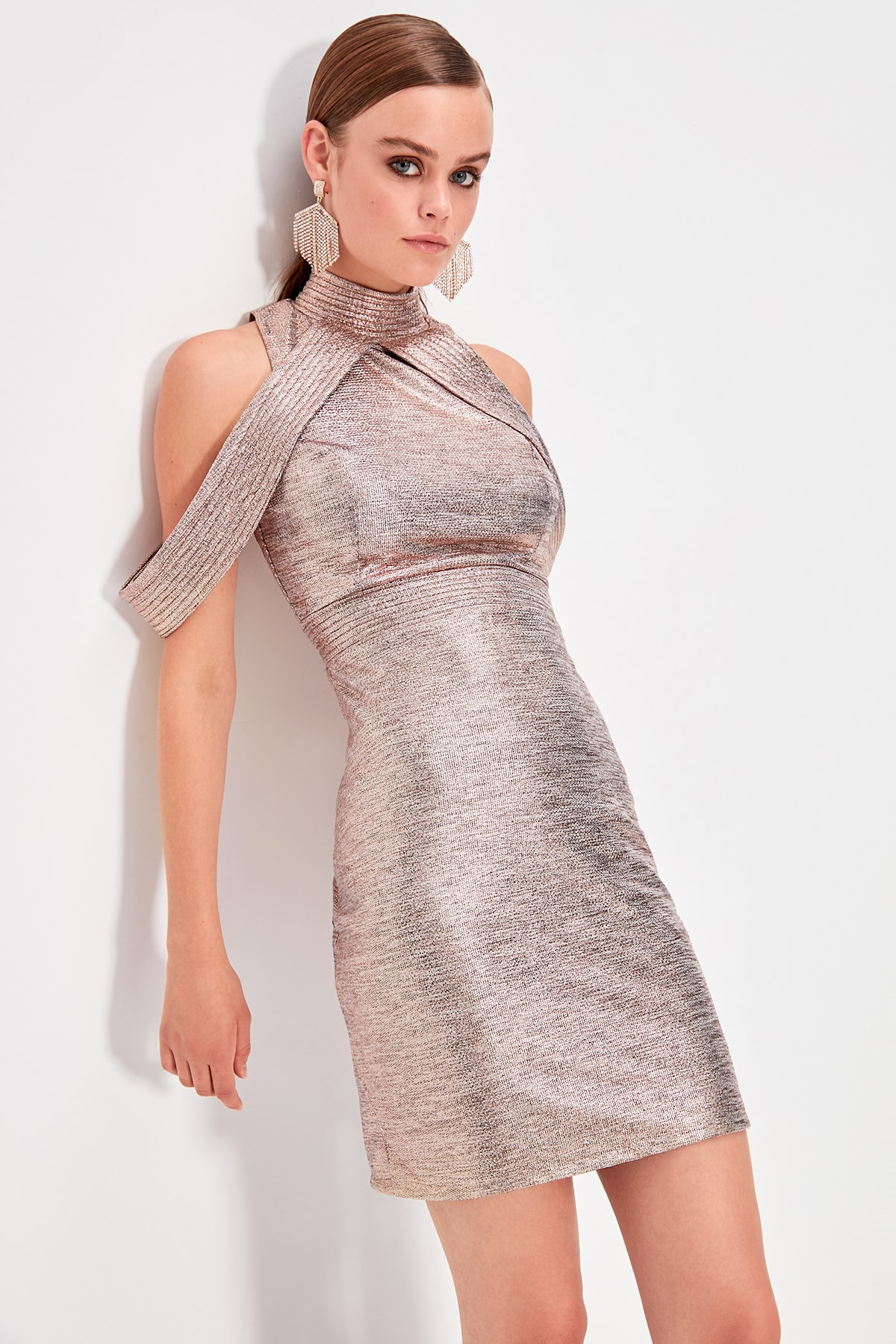 Trendyol Collar Detail Dress TPRSS19FZ0580
