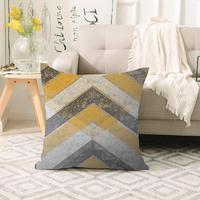Mais amarelo marrom cinza seta envelhecimento escandinavo impressão 3d sofá grande travesseiro caso capas de almofada chão escondido zíper 70x70cm