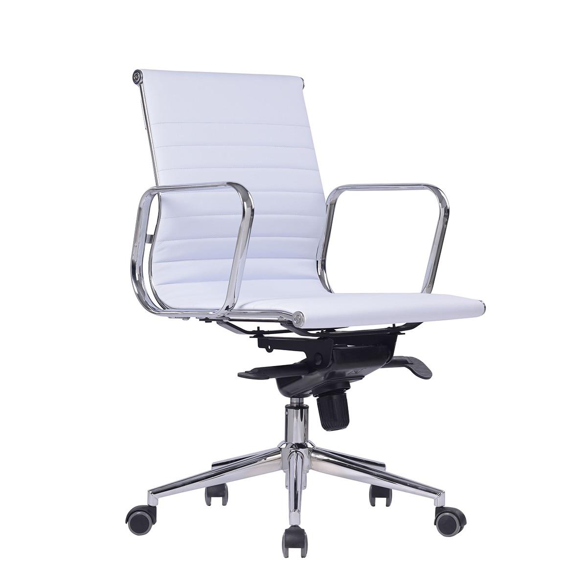 Office Armchair ARKANSAS, Rotatable, Similpiel White