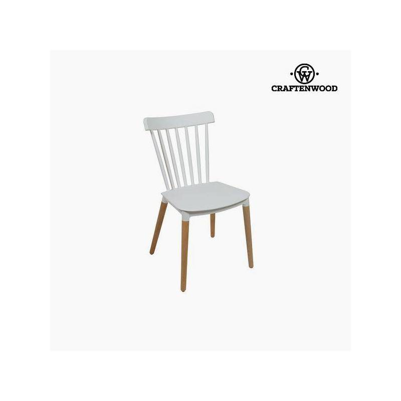 Chair Beech Wood White (52x46x84 Cm) By Craftenwood