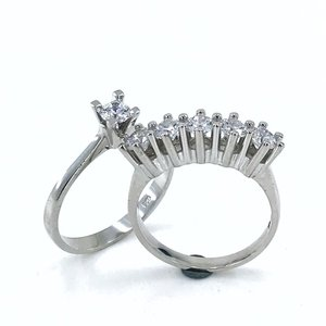 Orijinal swarovski gümüş dibs noivado anel kombin