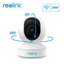 Reolink – caméra de surveillance intérieure IP wifi 3MP Super HD, enregistrement panoramique et inclinaison, Audio bidirectionnel, 24/7, détection de mouvement, pour bébé nounou, E1