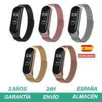 Correa mi band 4 3 metal metálica con imán de cierre automático sin tornillos para Xiaomi pulseras pulsera pulseira de acero inoxidable Fácil de instalar Strap para reloj inteligente smart watch AliExpress Plaza España