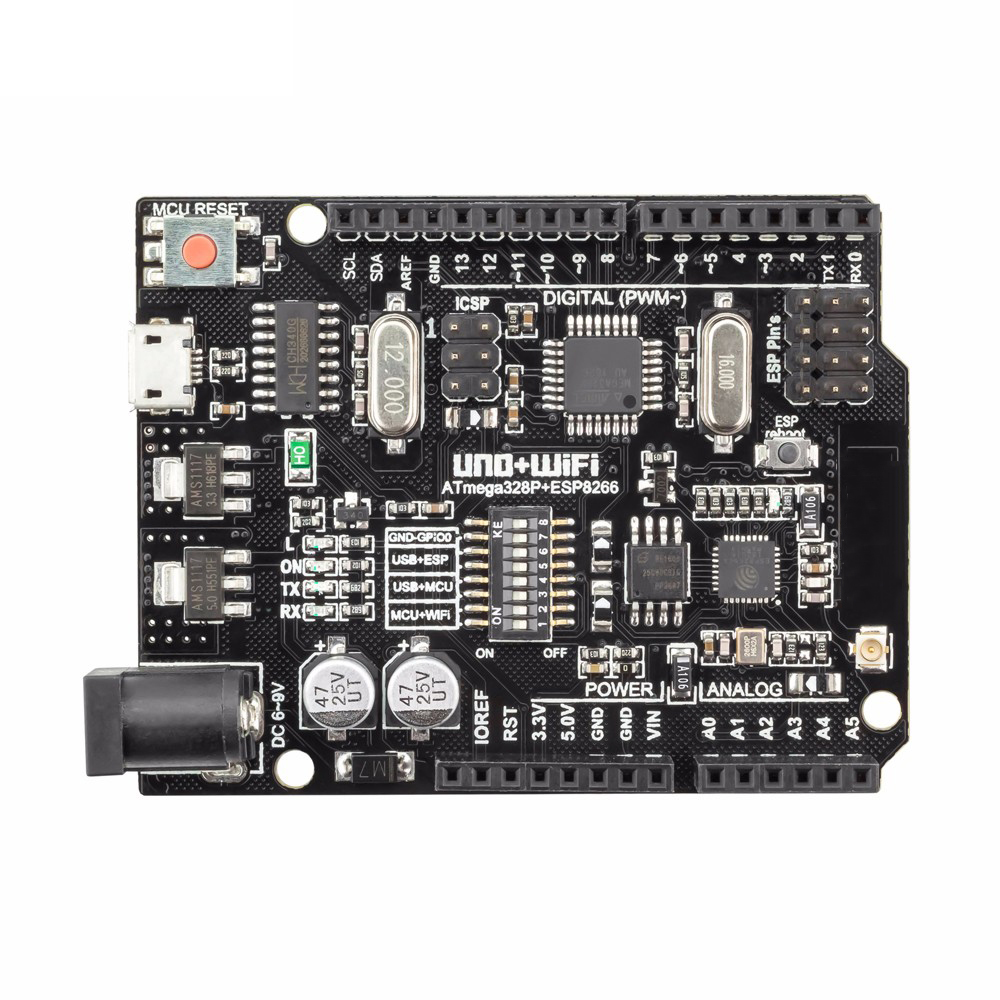 Taidacent ESP8266 32Mb Memory USB-TTL UNO USB To Serial Converter CH340G Compatible For NodeMCU WiFi R3 ATmega328P + ESP8266