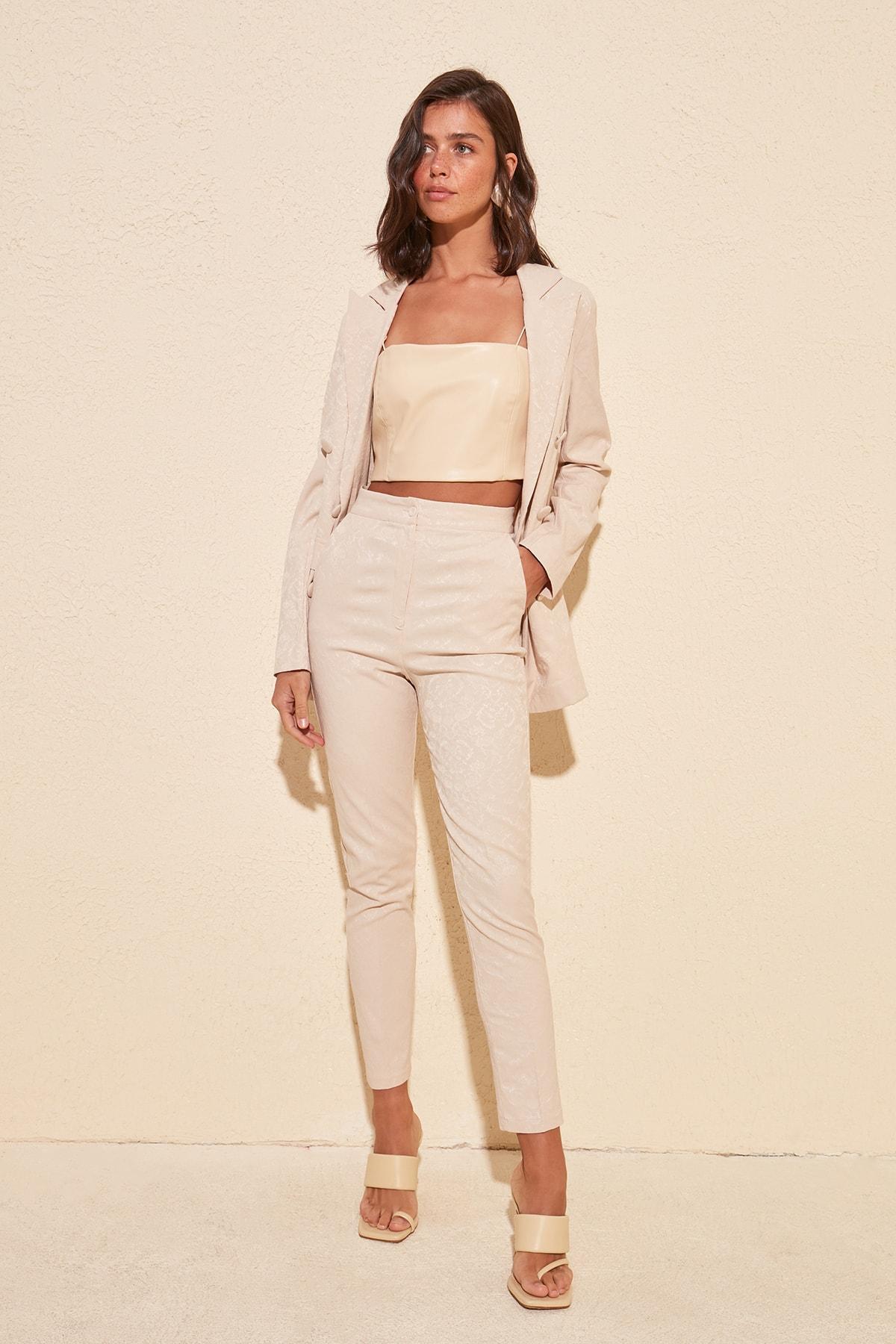 Trendyol Jacquard Pants TWOSS20PL0185