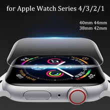 Full Protective Soft Film for Apple Watch Screen Protector 42mm 44mm 40mm 38mm for iwatch 5 4 3 2 1 6 SE Not Tempered Glass