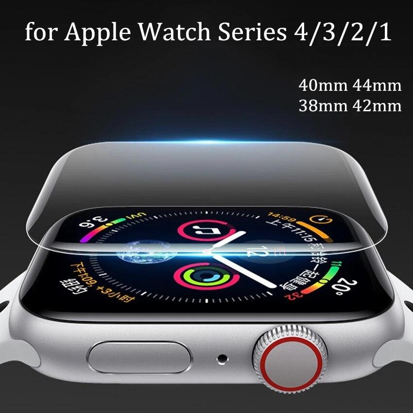 Película macia protetora completa para apple assistir protetor de tela 42mm 44mm 40mm 38mm para iwatch 5 4 3 2 1 6 se não vidro temperado