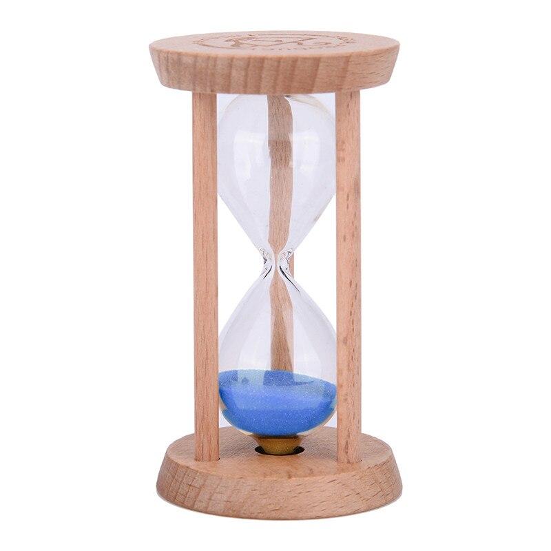 30 min Sand Uhr Sanduhr Holz Timer Sand Glas Küche Yoga Kind Rot