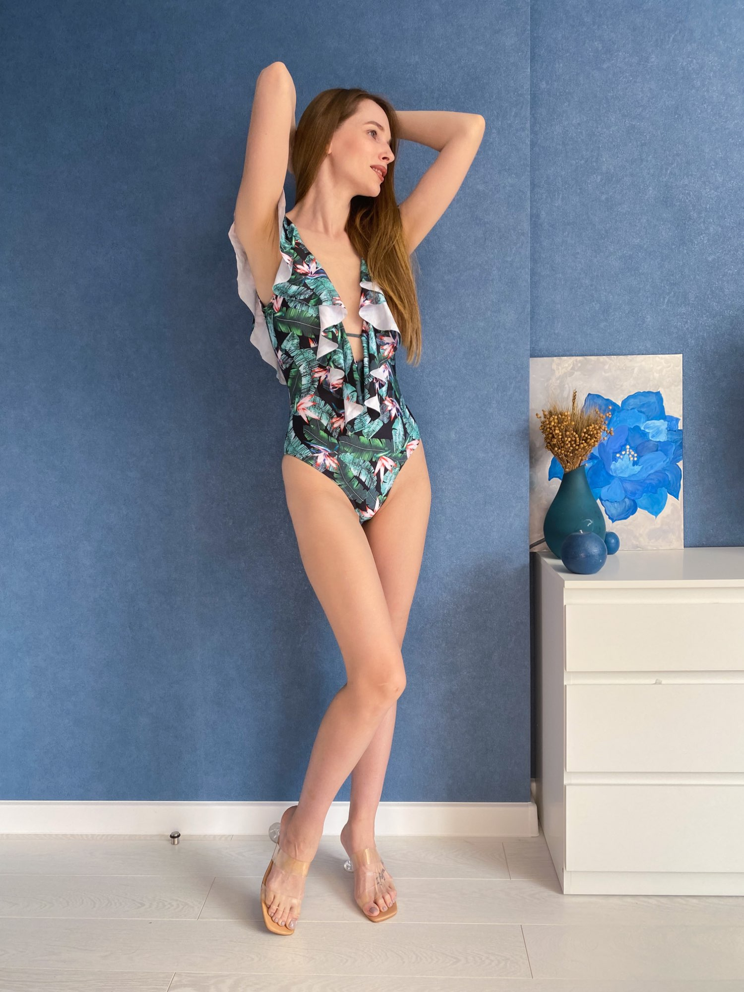 Women 2021 Flounce Off Shoulder Swimsuit Ruffle One Piece Swimsuit Women Sexy Bodysuit Monokini Swimwear Bathing Suit|xl bathing suits|xl womenxl swimsuit - AliExpress