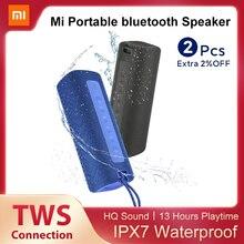 Портативный Bluetooth-динамик Xiaomi Mi, 16 Вт, TWS-подключение, высокое качество звука, водонепроницаемость IPX7, 13 часов воспроизведения