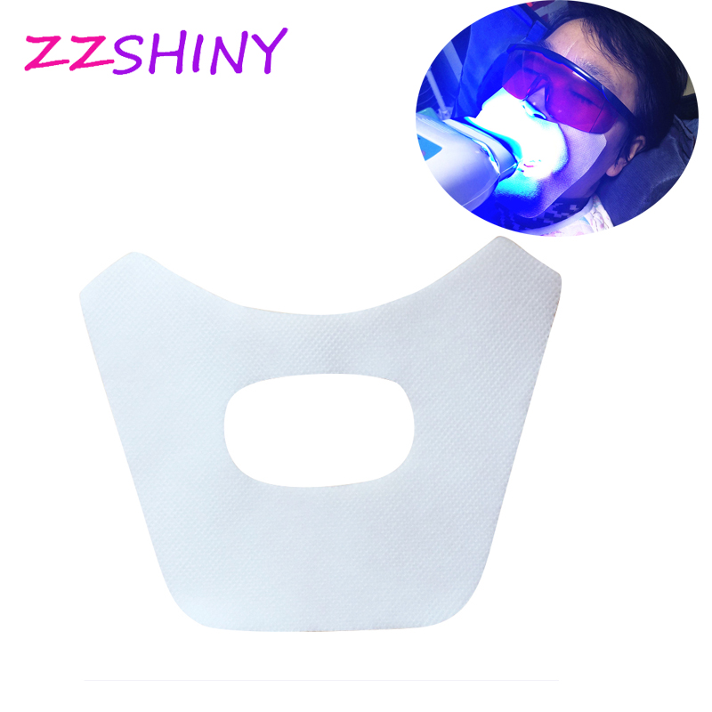 50 Pcs Teeth Whitening Face Gauze Dental Facial Mask Mouth Mask For Tooth Whitening