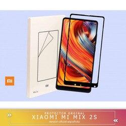 -Square-oficjalna osłona ekranu z hartowanego szkła LCD do Xiaomi Mix 2 / 2s edge 2.5D 9H osłona ekranu wysyłka z hiszpanii