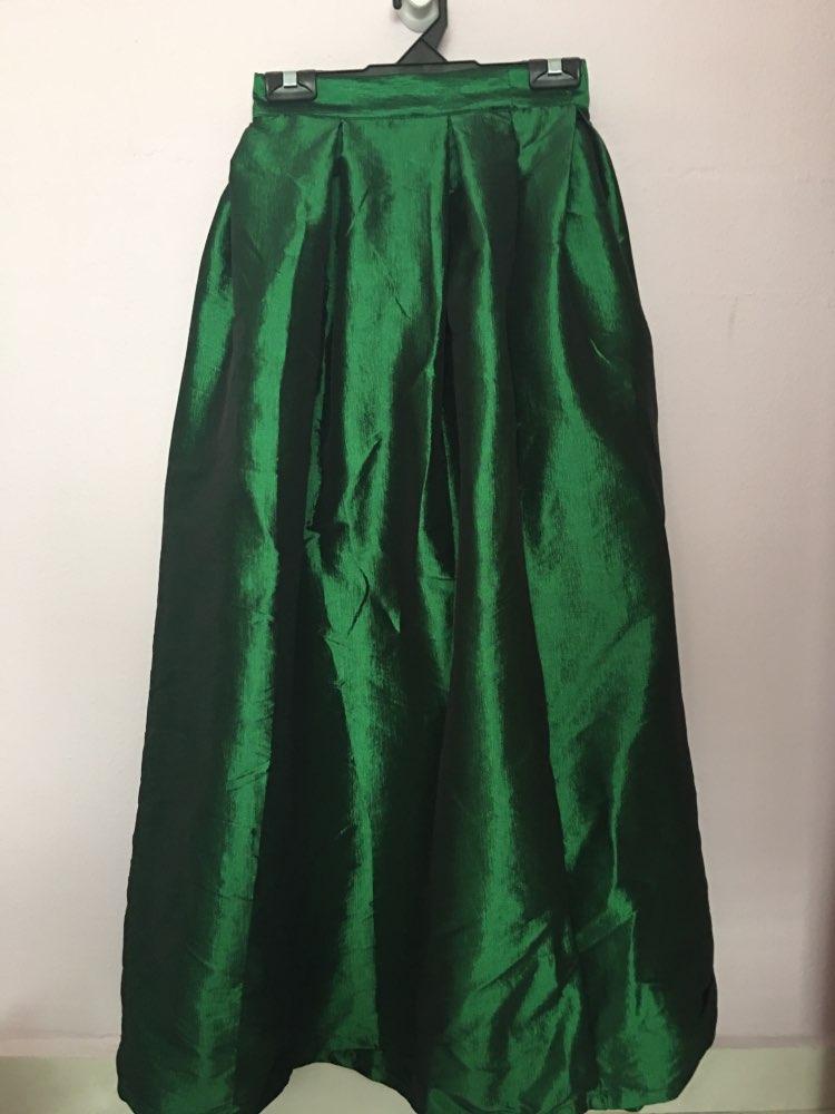 Fashion Long Skirts Women Faldas High Waist Pleated Womans Floor Length Skirt Plus Size Elastic Elegant Ladies Jupe Skirts photo review