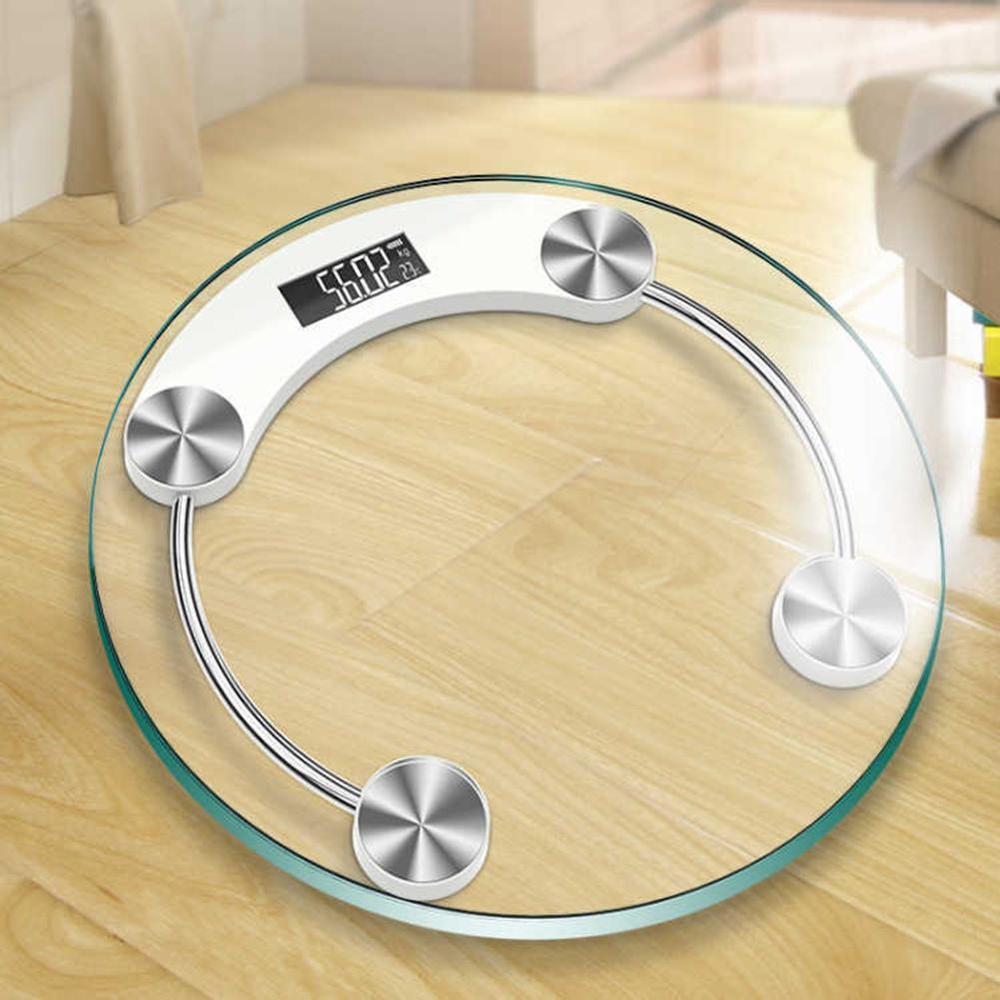 Balances rondes de plancher de salle de bains pour la balance de corps en verre intelligente électronique de personnes