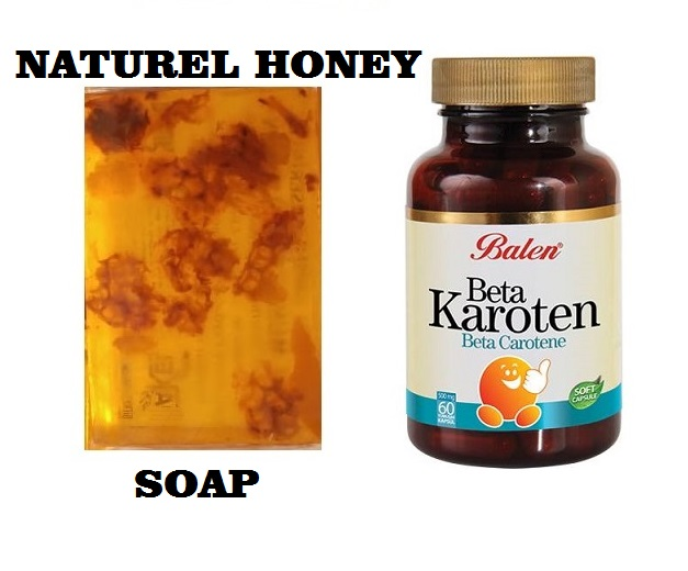 (gift Items)HANDMADE NATURAL HONEY SOAP 100gr+Gift Food Supplement Health Beta Carotene Complex