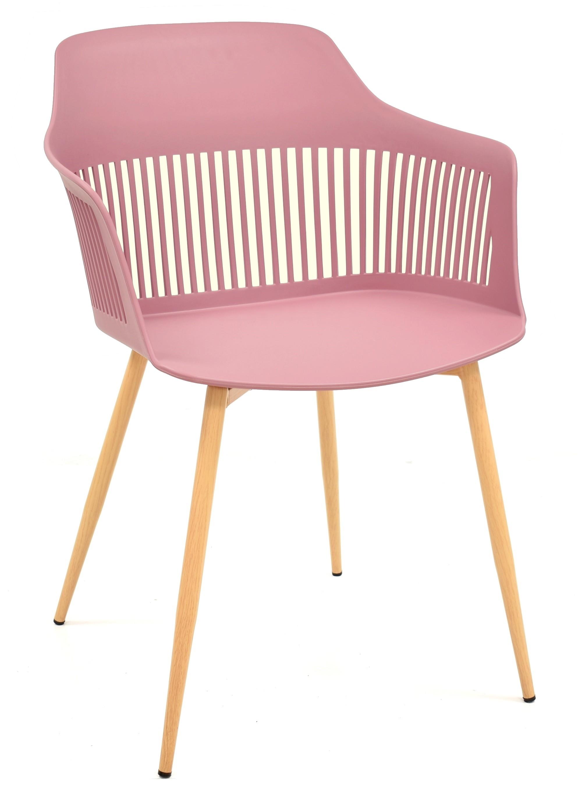 Armchair ALCAZABA Metal Polypropylene Dark Pink