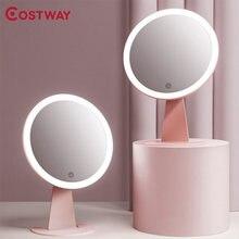 Costway макияж зеркало настольное для макияжа с металлическим