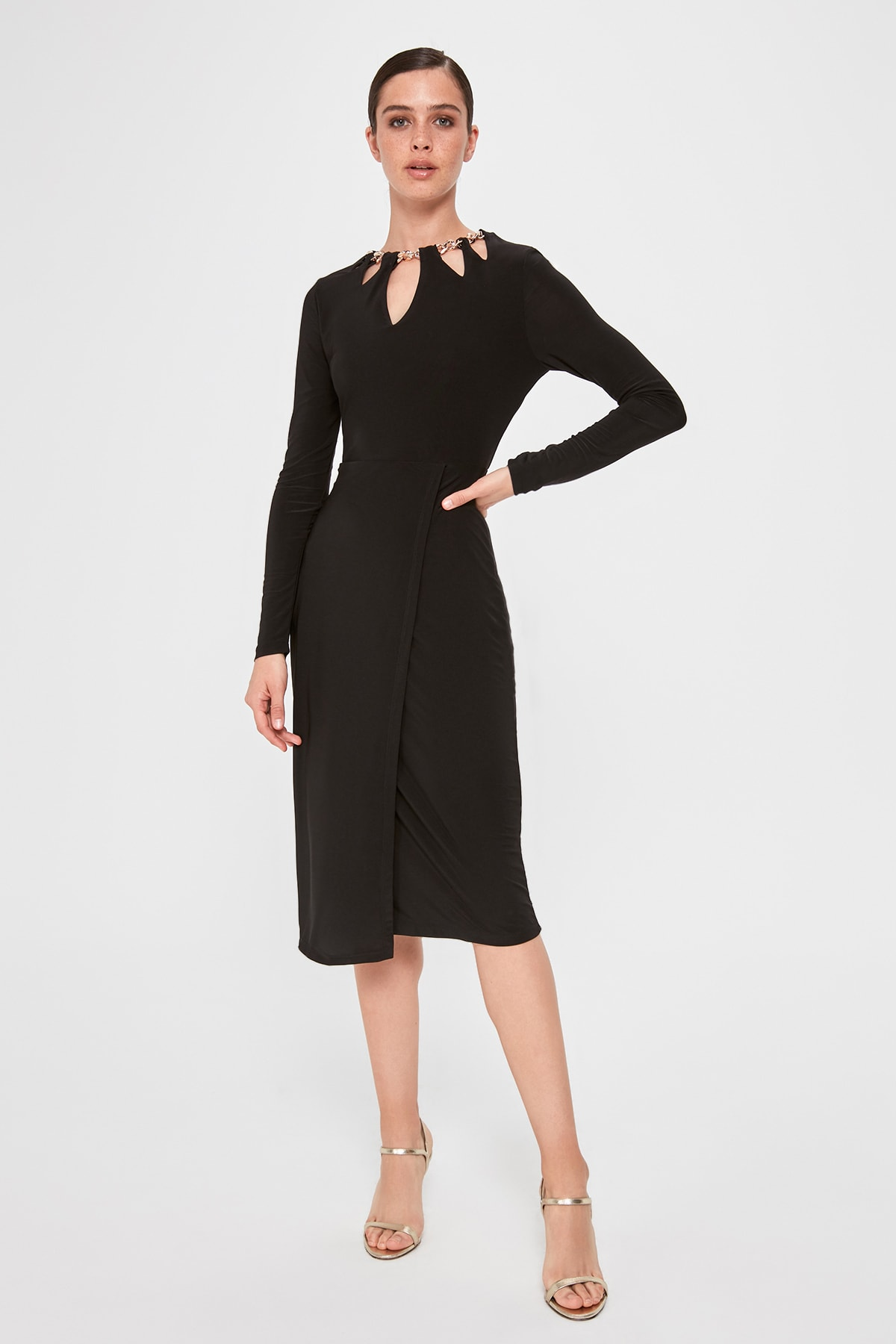 Trendyol Collar Detail Dress TPRAW20EL1498