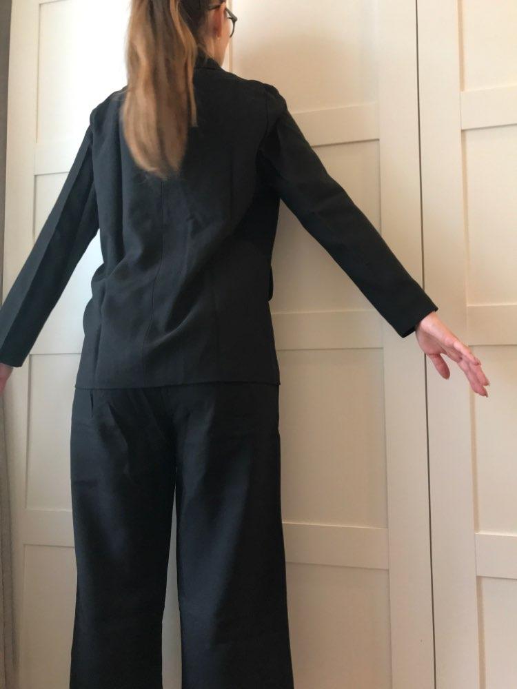 Autumn Winter  Women Lace Up Pant Suit Notched Blazer Jacket & Pant Office Wear Suits Female Sets reviews №3 115331