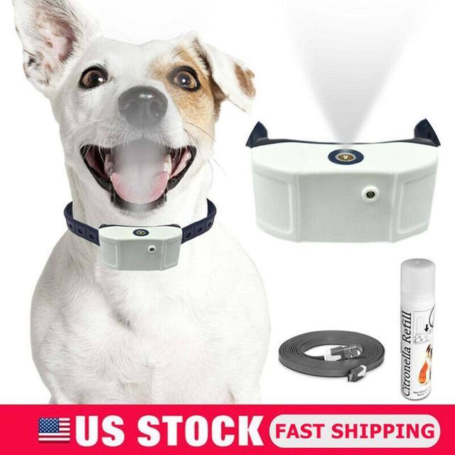 ペット犬充電式抗樹皮襟列車防水ストップ吠える犬防水超音波トレーニング首輪