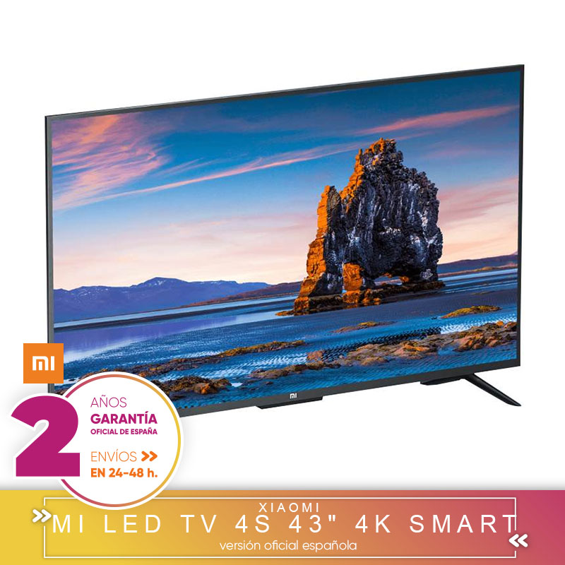 [Official Spanish Version Warranty] Xiaomi mi 4S Smart TV 4K HD 4S 43 inch 2 + 8 hard gb Android Smart TV bluetooth remote control buttons
