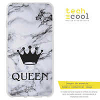 FunnyTech®Stand case for Huawei Y6 Silicone 2018/7A L design design Bridesmaid Crown Queen fund Texture