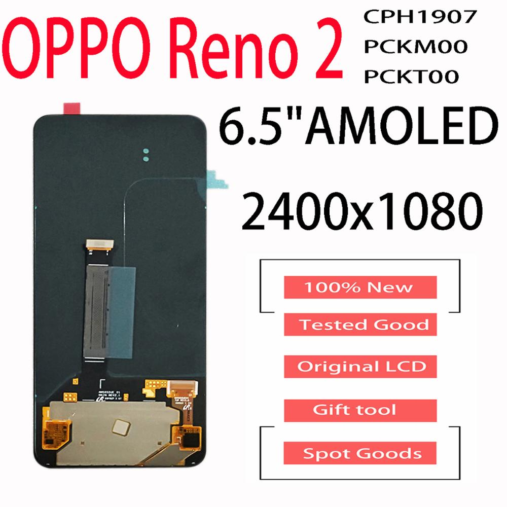 New For OPPO Reno / Reno 2 / Reno Z / k3 / 10X Zoom /CPH1919 PCGM00 CPH1917 1907 LCD Display Touch Screen Digitizer Replacement