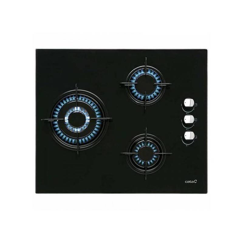 Gaz plakası tadım CI6021BK (60 cm) siyah (3 brülör soba)|İndüksiyon Ocakları|Ev Aletleri - title=