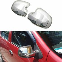 Chrome rear view enclosures for Dacia Duster from 2012 to 2018 stainless steel