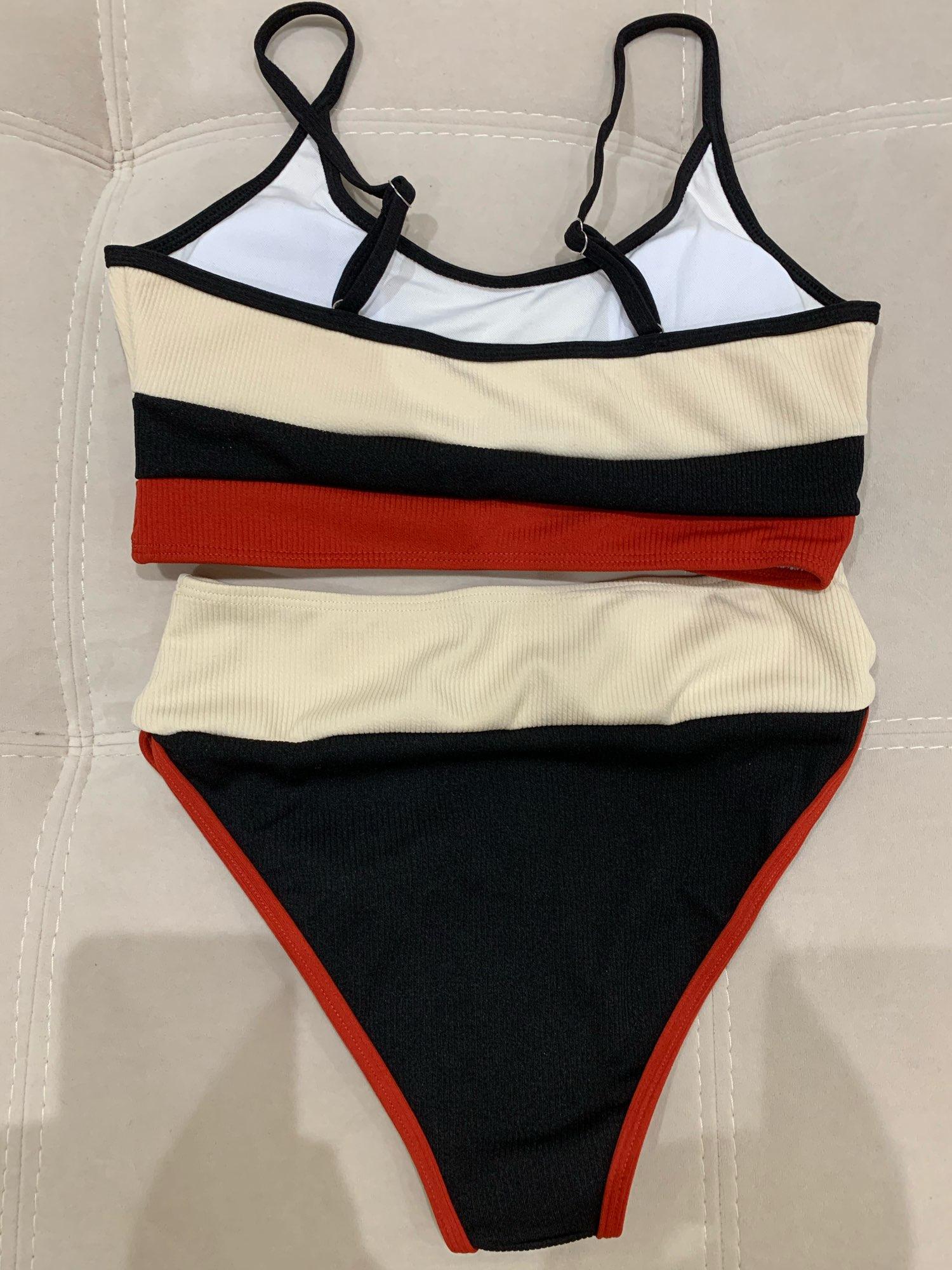 Push Up Swimsuit Female Patchwork Swimwear For Women Bathing Suit High Waist Bikini Set Sport Wear Swimming Suit Sexy Bikini|Bikini Set|   - AliExpress