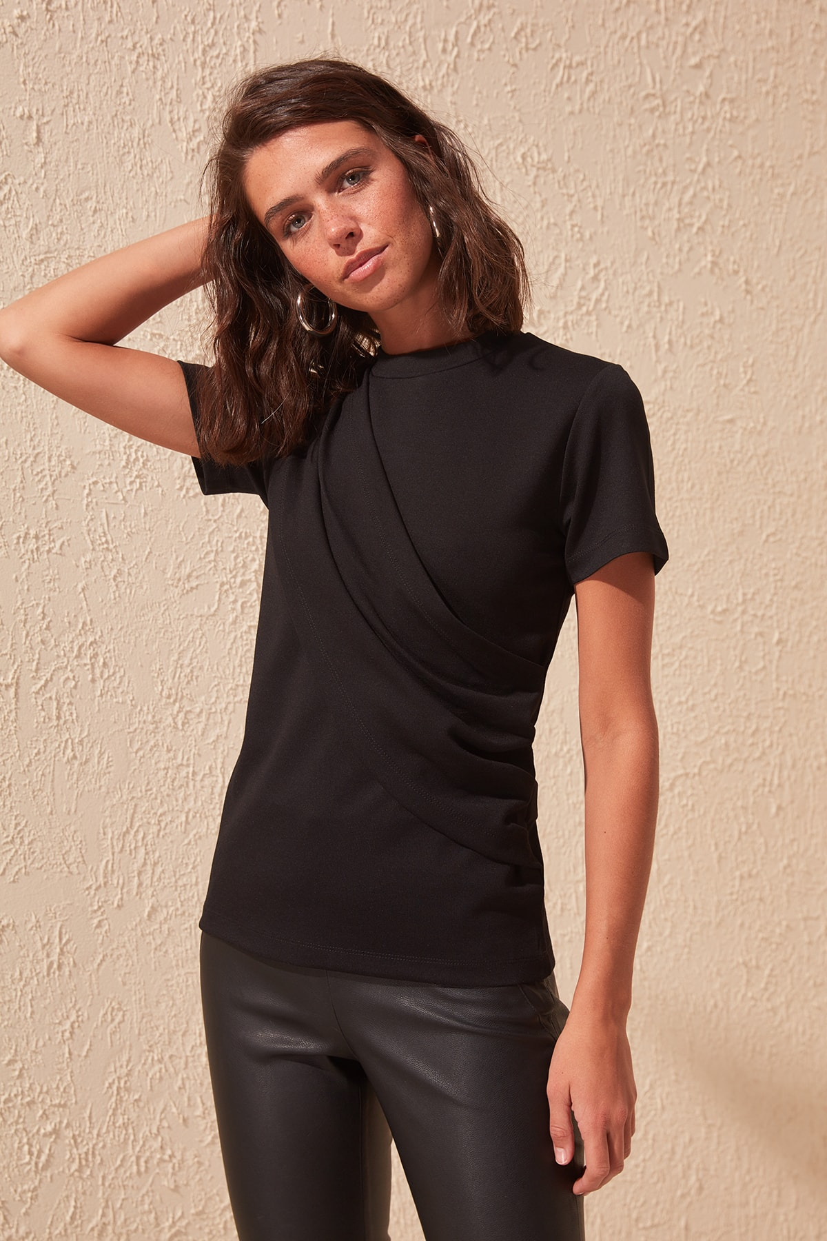 Trendyol Girdle Detail Knitted Blouse TWOSS20BZ0376