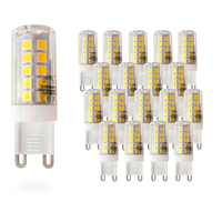 Pack 20 Bulbs LeaderssonLED Low Consumption MOSCU G9 & middot; floor lamp LED (Tubular Ceramics) 5W [energy rating: A +]