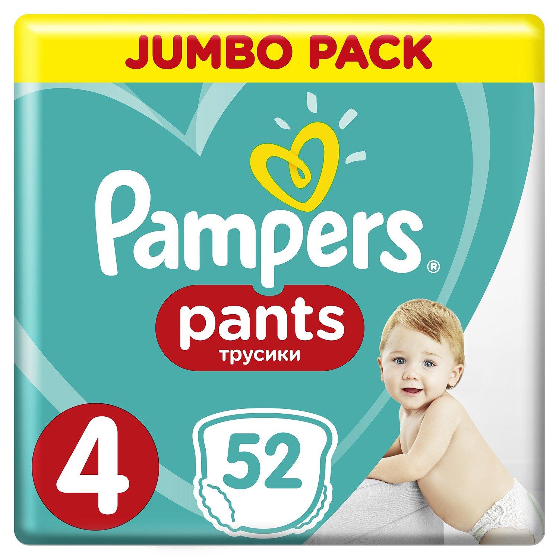Подгузники-трусики Pampers Pants 4 9-15кг 52шт