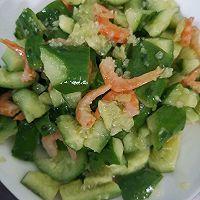 爽口海米黄瓜的做法图解4