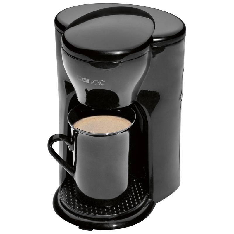 Clatronic KA 3356 Kettle Automatic Electric Drip Coffee Machine Filter Capacity 1 Cup Black