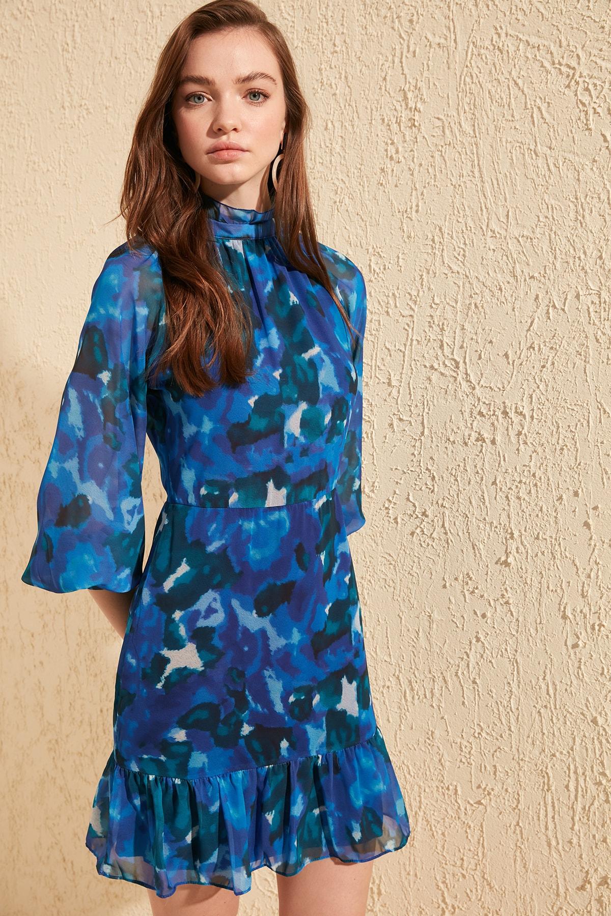 Trendyol Patterned Dress TWOSS20EL0175