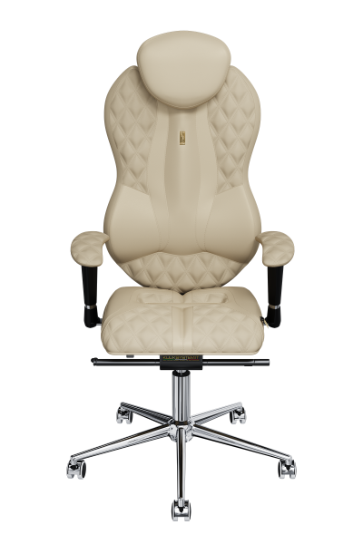 Office Chair KULIK SYSTEM GRAND Sand Computer Chair Relief And Comfort For The Back 5 Zones Control Spine